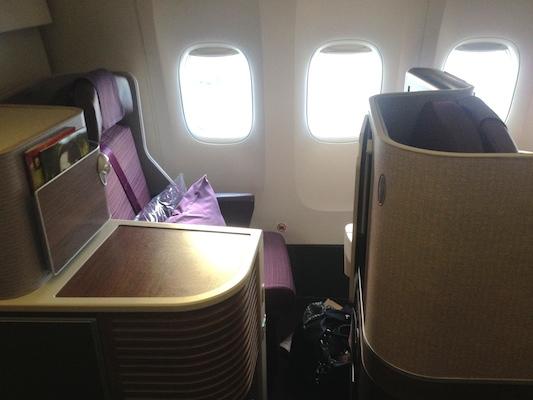 reisetips fly business class thai airways