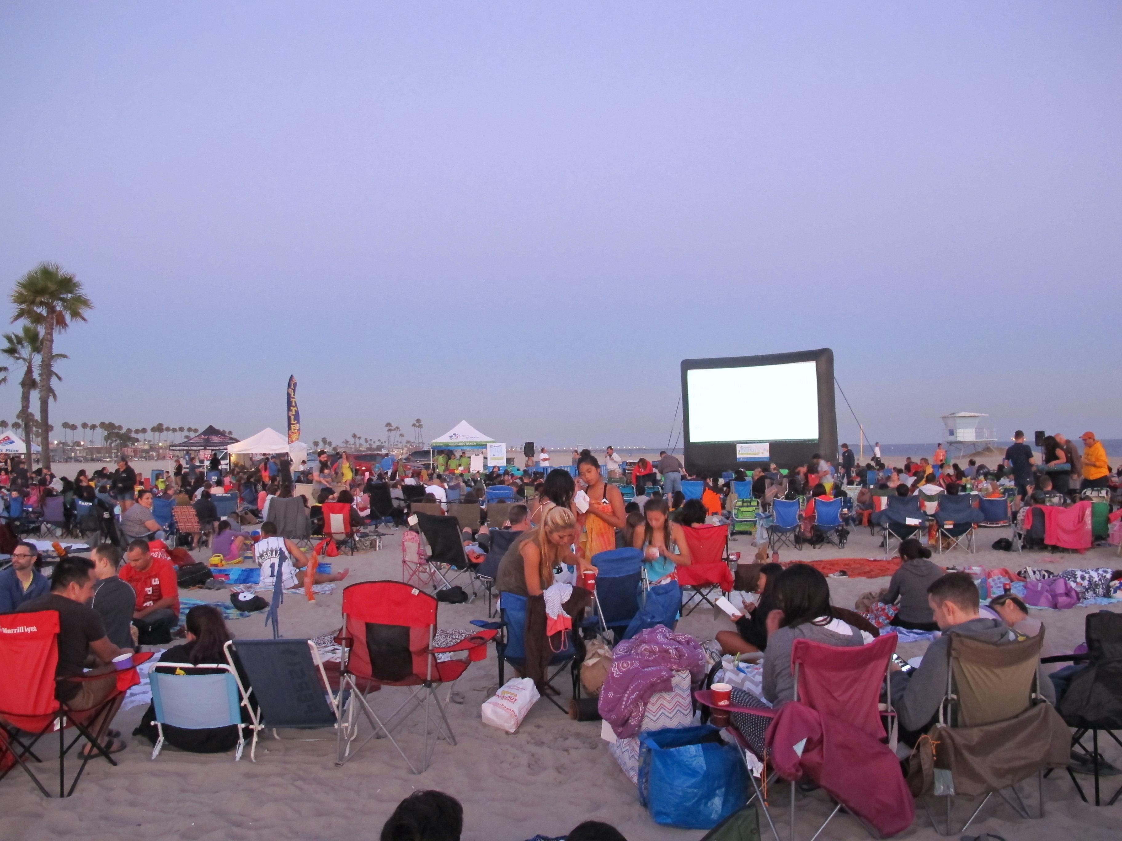 Kino på stranden i Long Beach