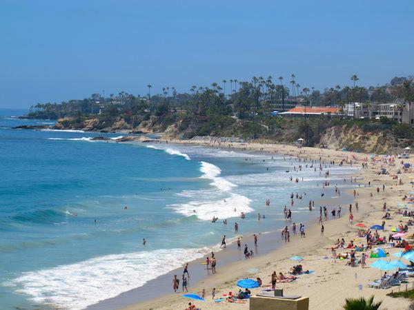 Den beste stranden i Laguna Beach