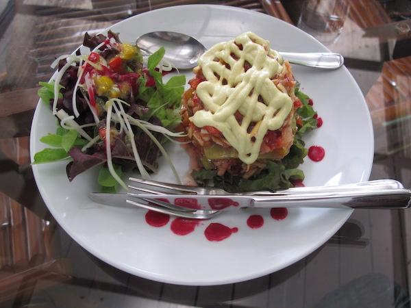 Jeg hadde aldri trodd raw food-vegetarlasagne kunne smake så godt!