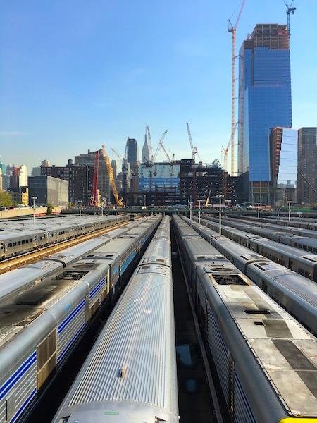 Fra slutten av High Line Park.