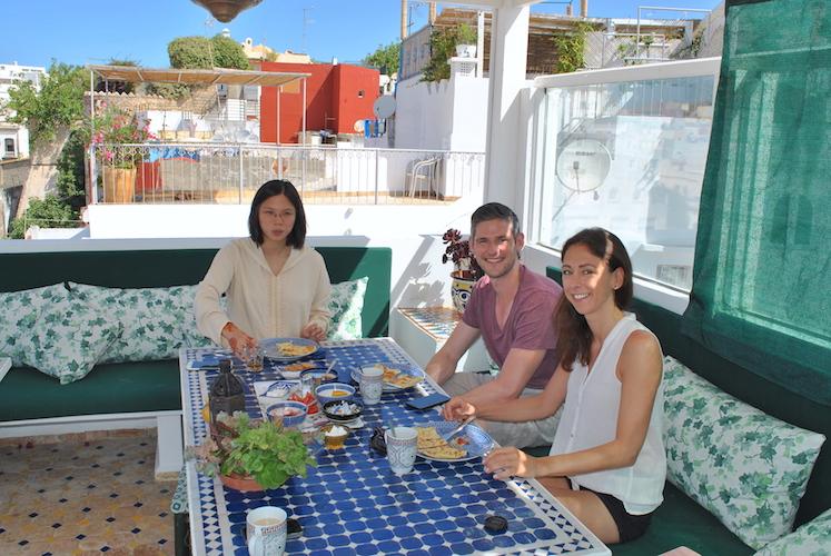 Frokost på takterrassen.