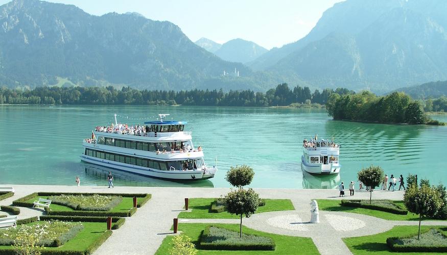 Båttur i Bayern