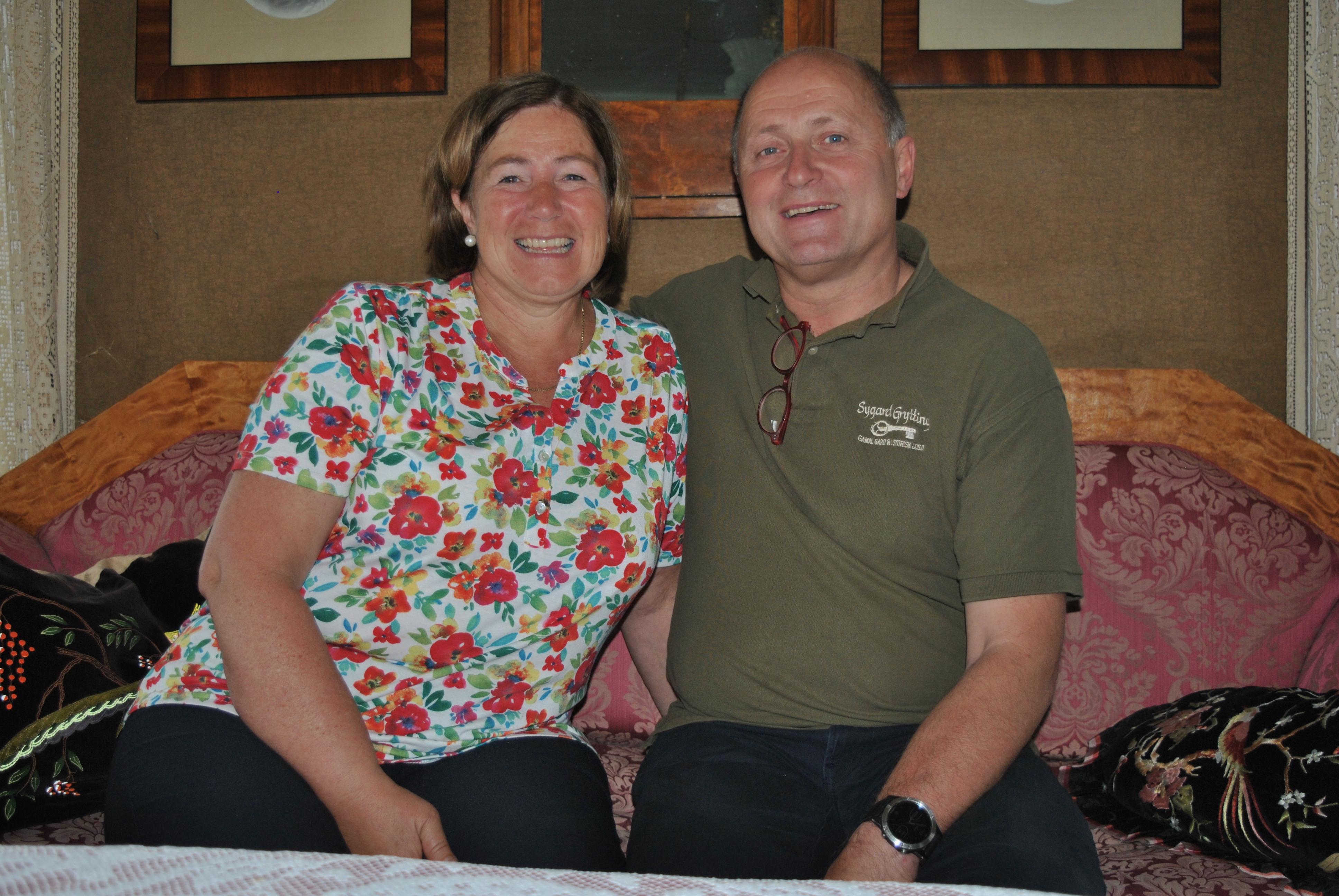 Hilde og Stig har tatt imot gjester på Sygard Grytting siden 1994.
