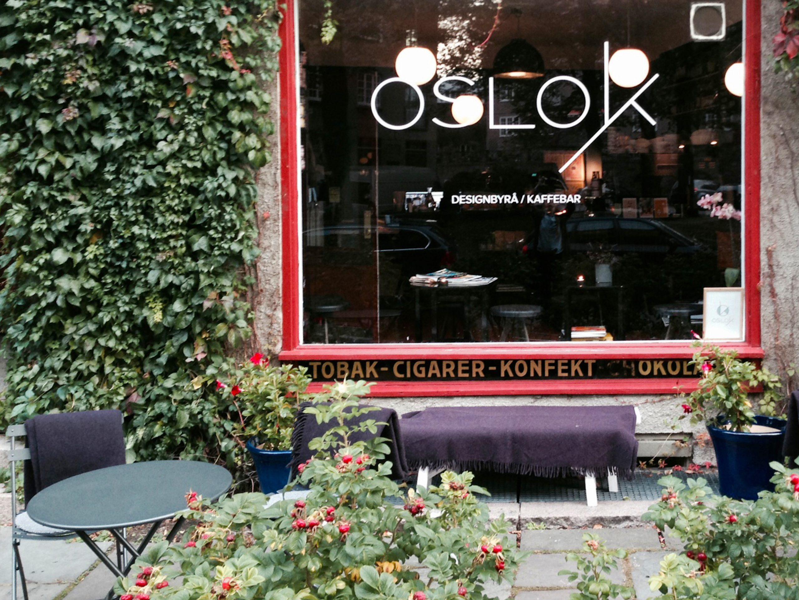 Inngangen til kafeen Oslo K.