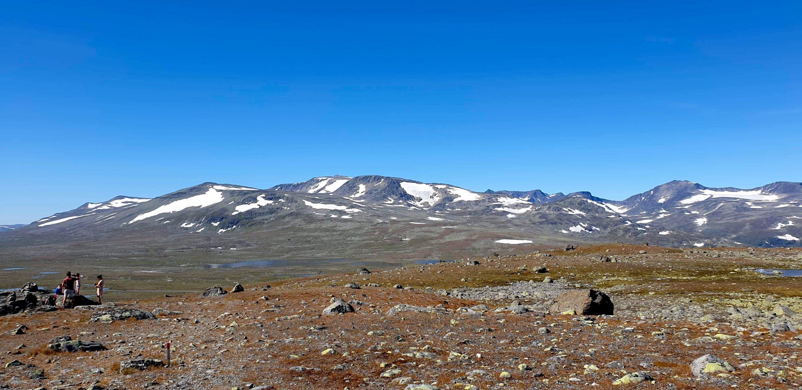 Utsikt fra Fisketjernnuten, som er et populært mål for barnefamilier.