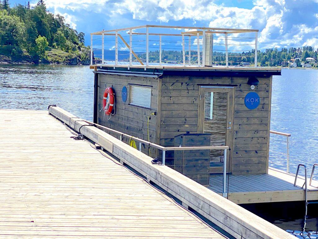 Den utendørs badstuen til KOK på Kadettangen.